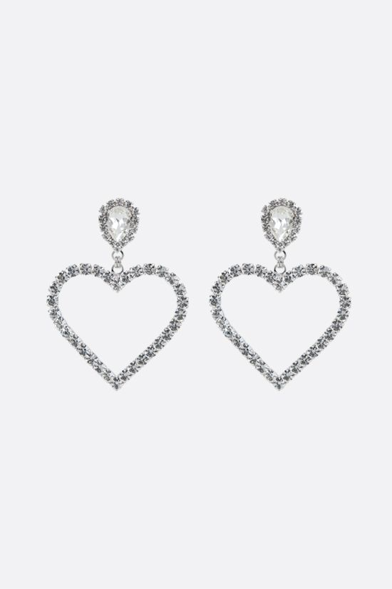 ALESSANDRA RICH: crystal heart earrings Color Neutral_1
