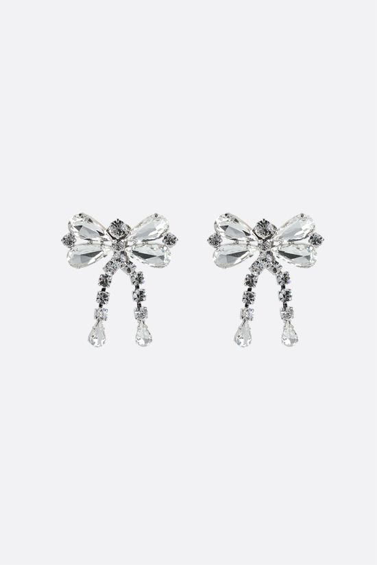 ALESSANDRA RICH: crystal bow earrings Color Neutral_1