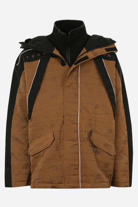 NAPA by MARTINE ROSE: Epoch 4.0 padded jacket in Cordura® fabric Color Brown_1
