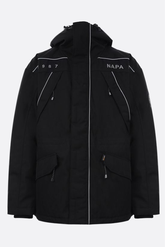 NAPA by MARTINE ROSE: Epoch 3.0 padded jacket in Cordura® fabric Color Black_1