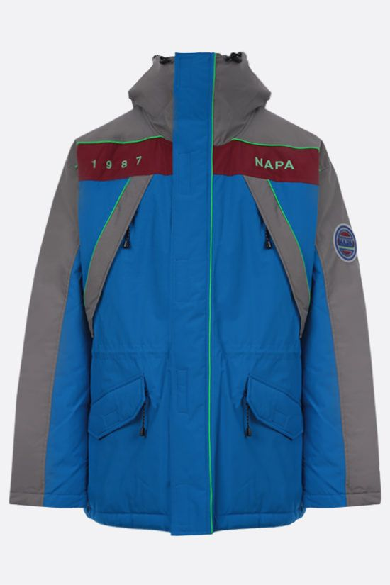 NAPA by MARTINE ROSE: Epoch 2 technical fabric padded jacket Color Blue_1