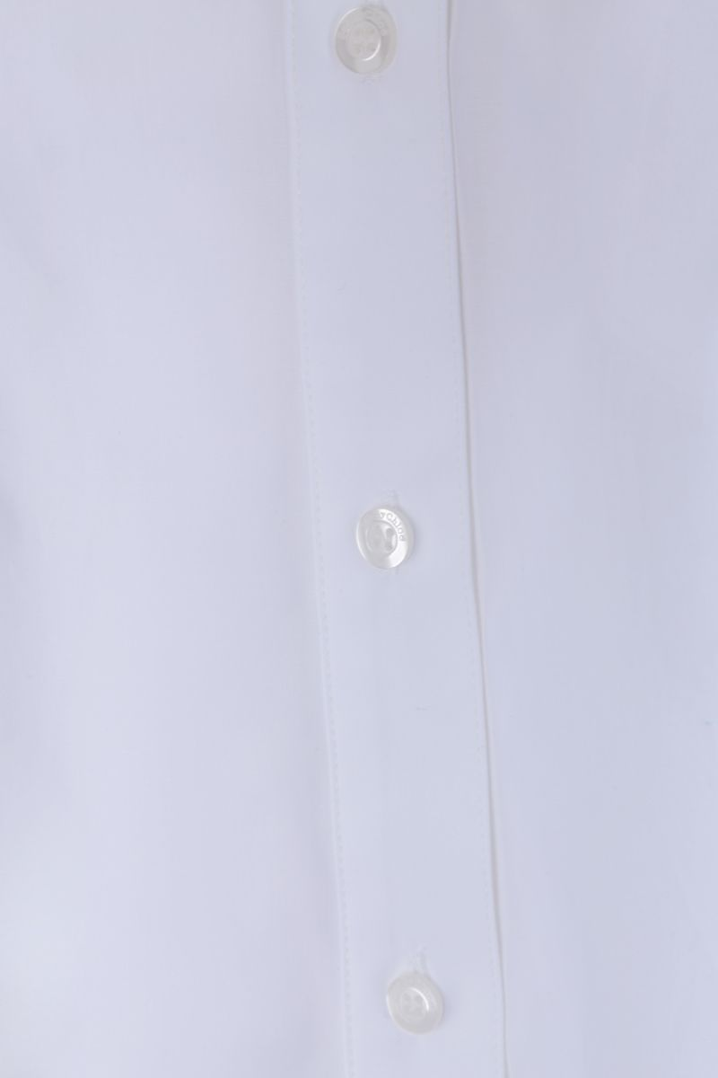 SEE BY CHLOÈ: gathered detail cotton sleeveless shirt Color White_3