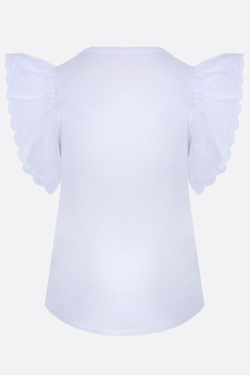 SEE BY CHLOÈ: cotton t-shirt with cap sleeves Color Neutral_2