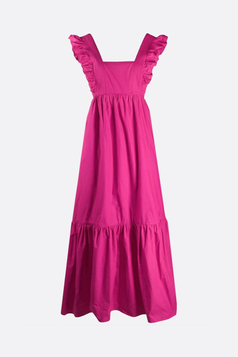 SELF PORTRAIT: bow-detailed cotton long dress Color Pink_1