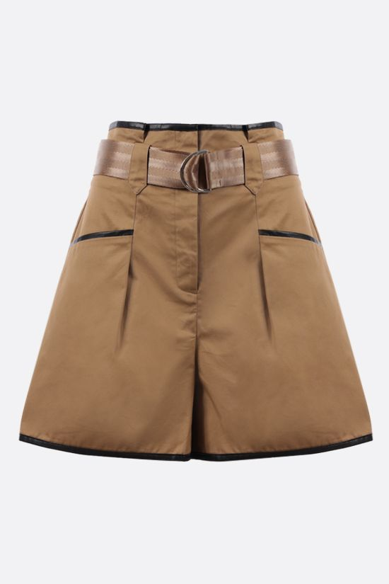 SELF PORTRAIT: contrasting trim cotton shorts Color Neutral_1