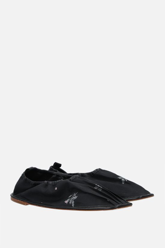 CECILIE BAHNSEN: Hyacinth nylon ballerinas Color Black_2