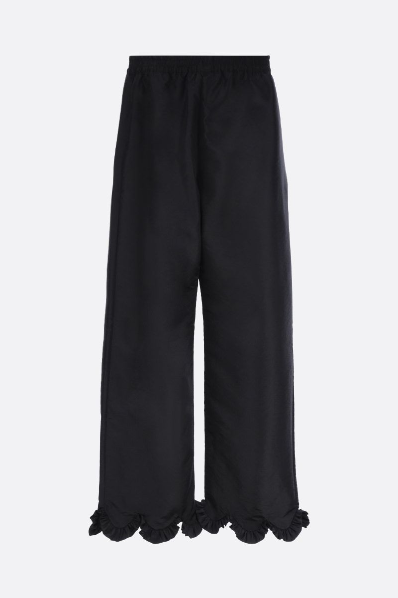 CECILIE BAHNSEN: Vinnie faille wide-leg pants Color Black_2