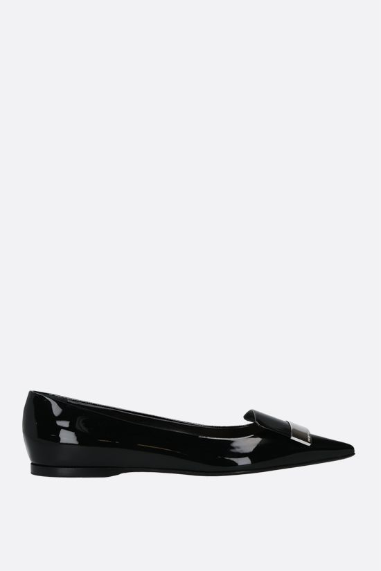 SERGIO ROSSI: sr1 patent leather ballerinas Color Black_1