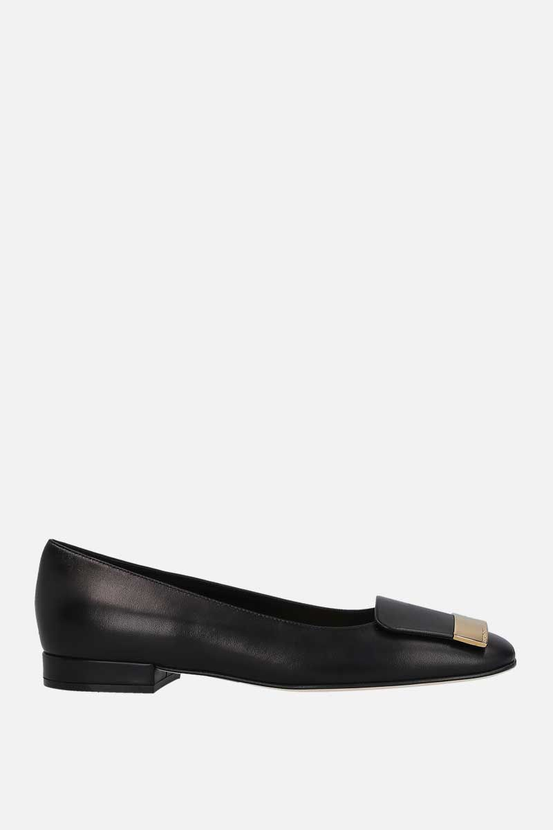 SERGIO ROSSI: sr1 soft nappa ballerinas Color Black_1