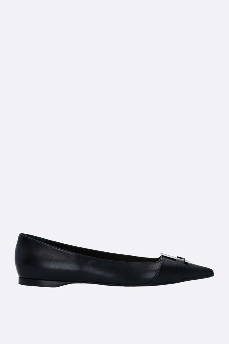 SERGIO ROSSI: Sergio ballerinas in soft nappa Color Black_1