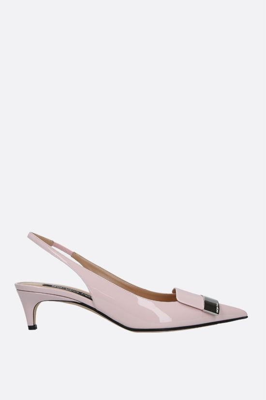 SERGIO ROSSI: sr1 patent leather slingbacks Color Pink_1