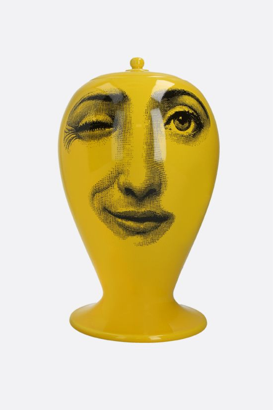 FORNASETTI: Antipatico ceramic vase Color Yellow_2