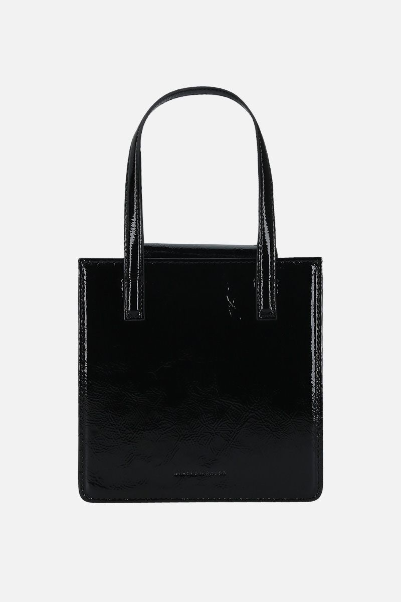 MARGESHERWOOD: Grandma patent leather handbag Color Black_1