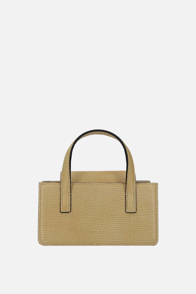 MARGESHERWOOD: Grandma mini lizard-embossed leather handbag Color Neutral_1