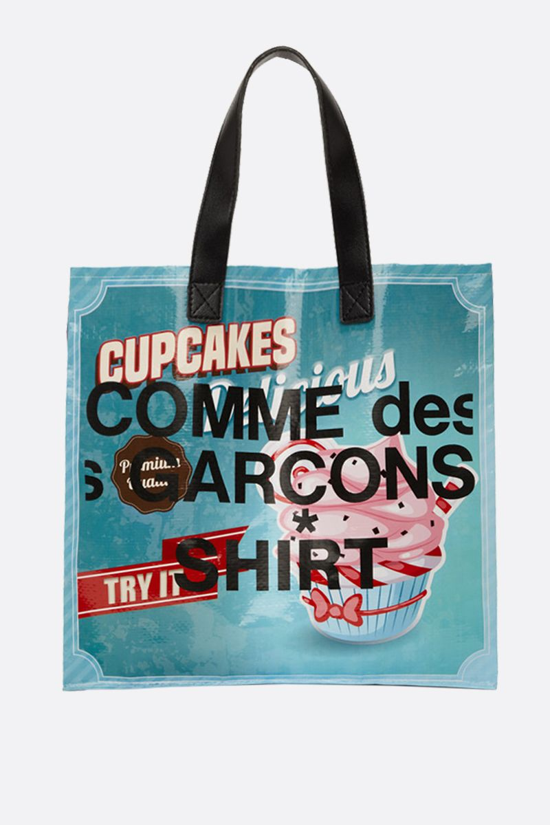 COMME des GARCONS SHIRT: Cupcakes print PVC tote Color Multicolor_1