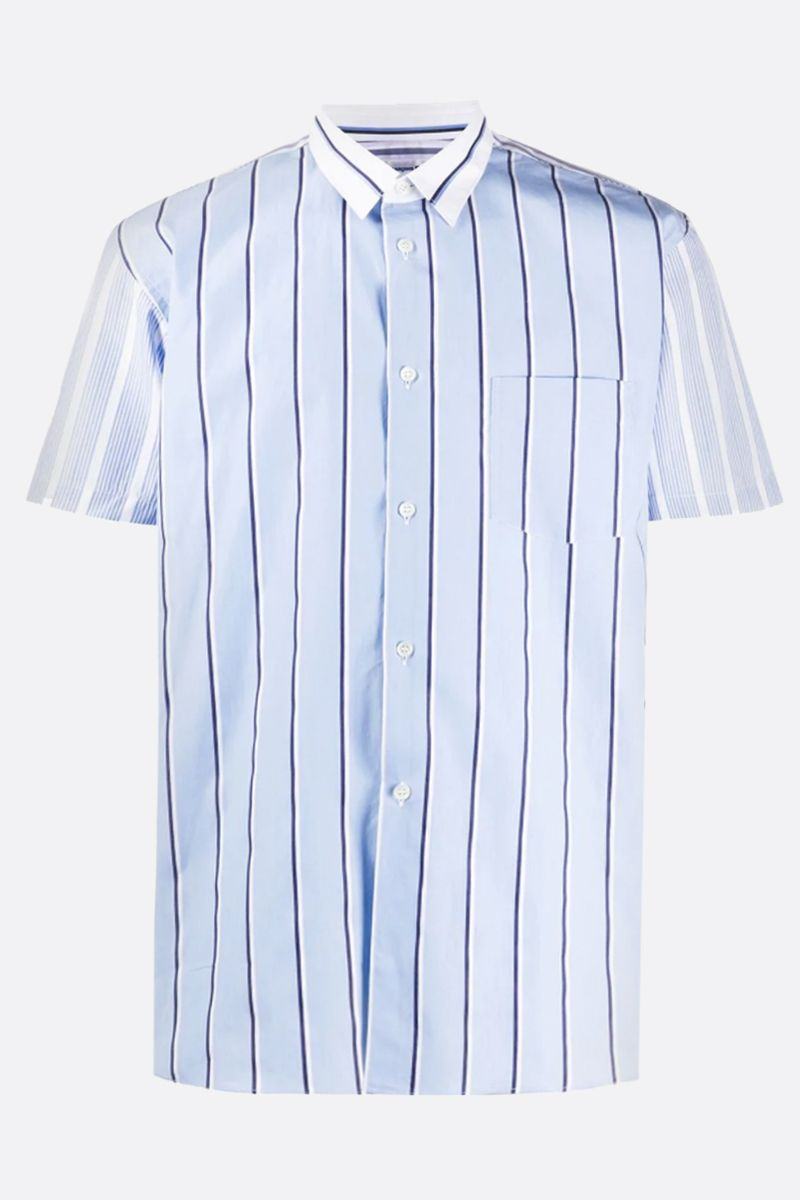 COMME des GARCONS SHIRT: striped cotton short-sleeved shirt_1