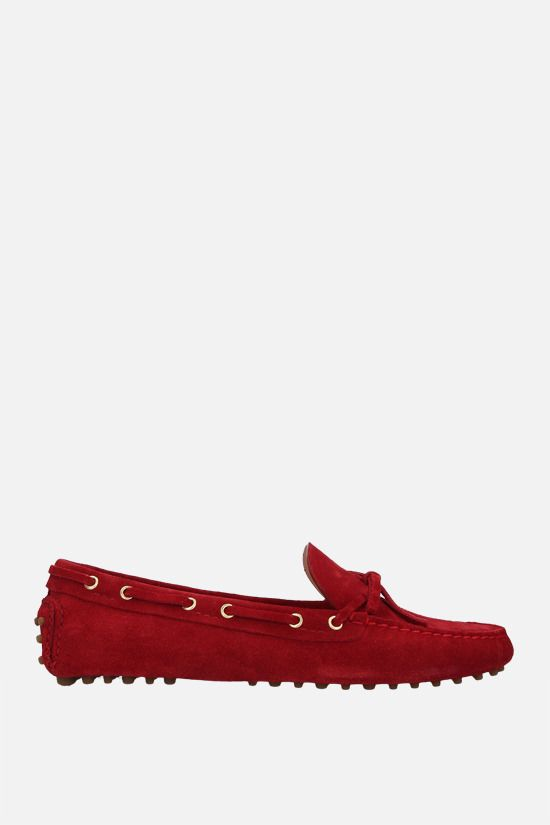 CAR SHOE: suede driving loafers Color Red_1
