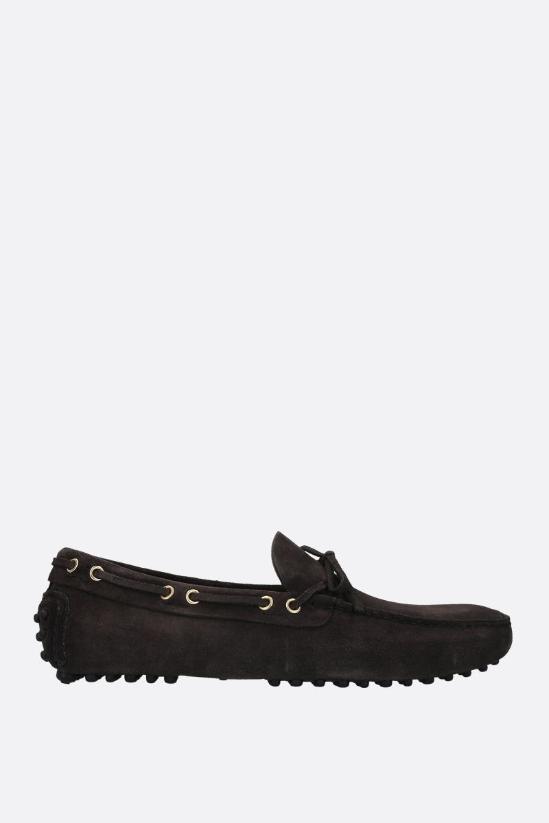 CAR SHOE: mocassino driving in pelle scamosciata Colore Nero_1