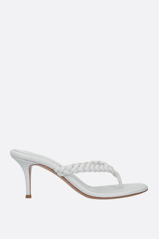 GIANVITO ROSSI: Tropea woven nappa thong sandals Color White_1
