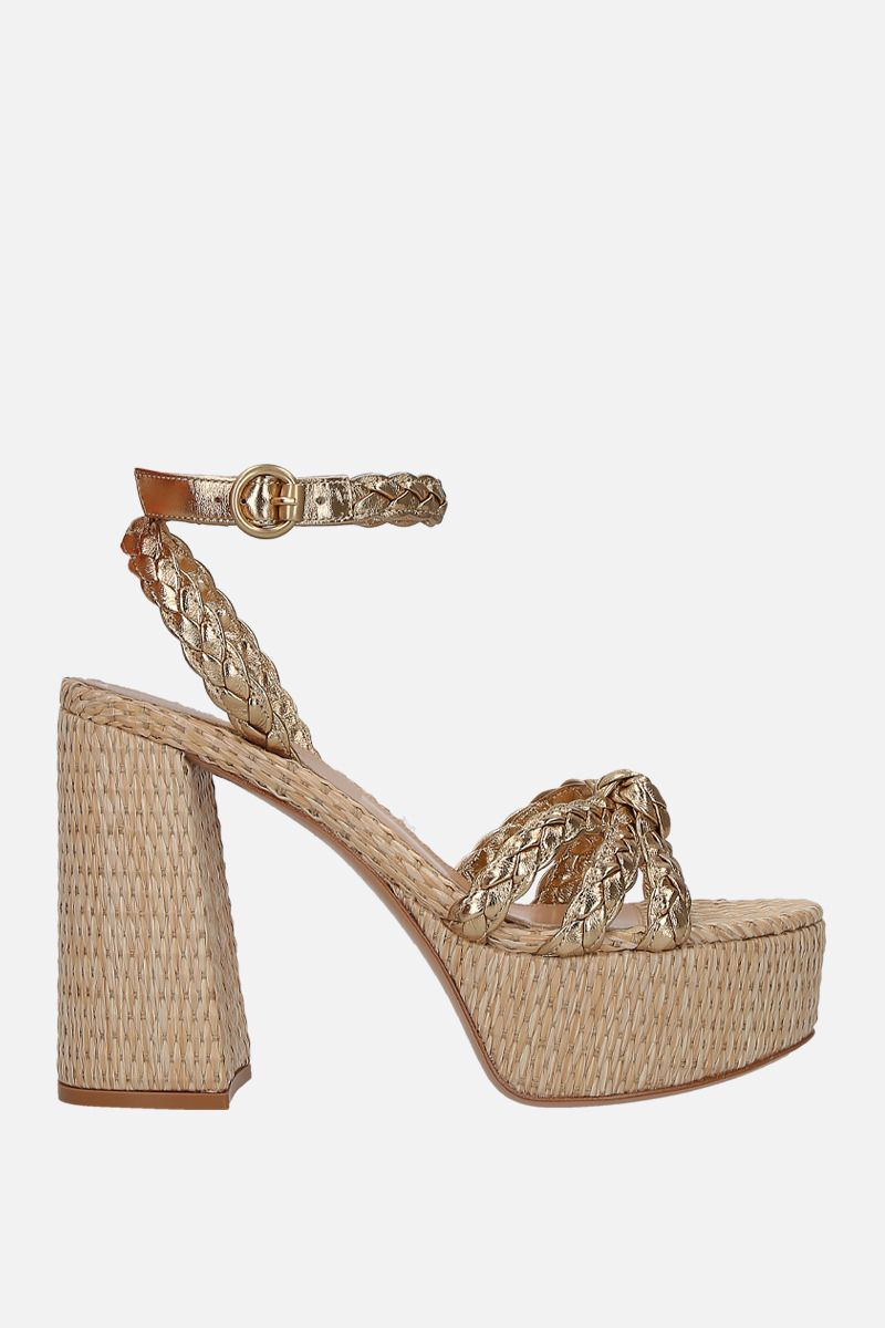 GIANVITO ROSSI: Kea platform sandals in laminated nappa_1