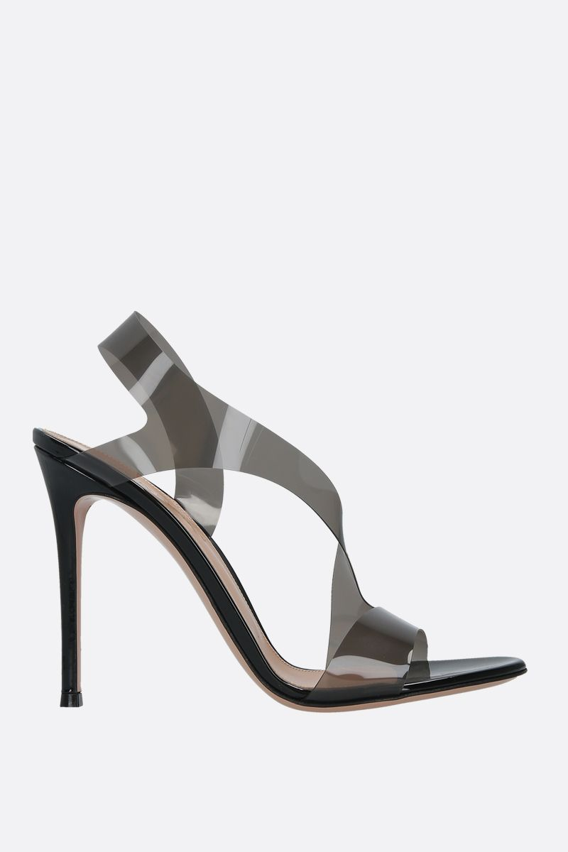 GIANVITO ROSSI: Metropolis PVC and patent leather sandals_1
