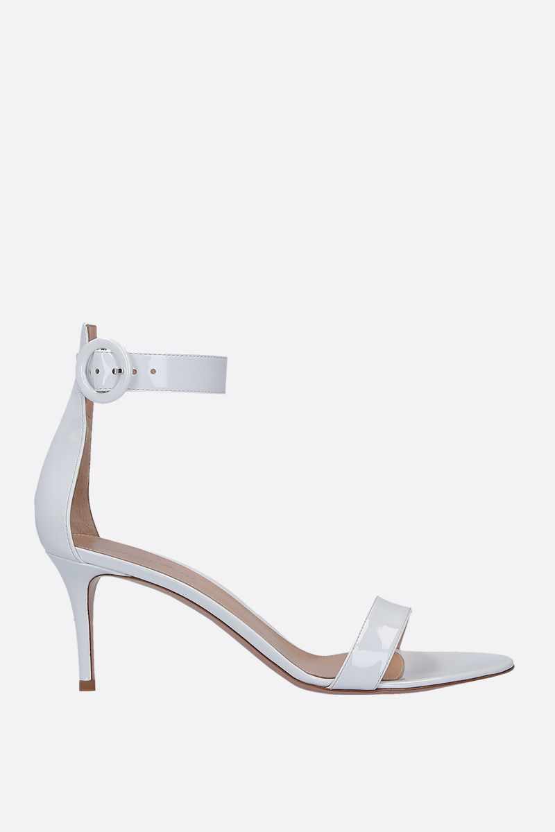GIANVITO ROSSI: Portofino patent leather sandals Color White_1