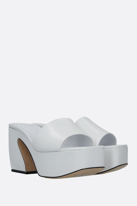 SI ROSSI: Si Rossi soft nappa mule sandals Color White_2