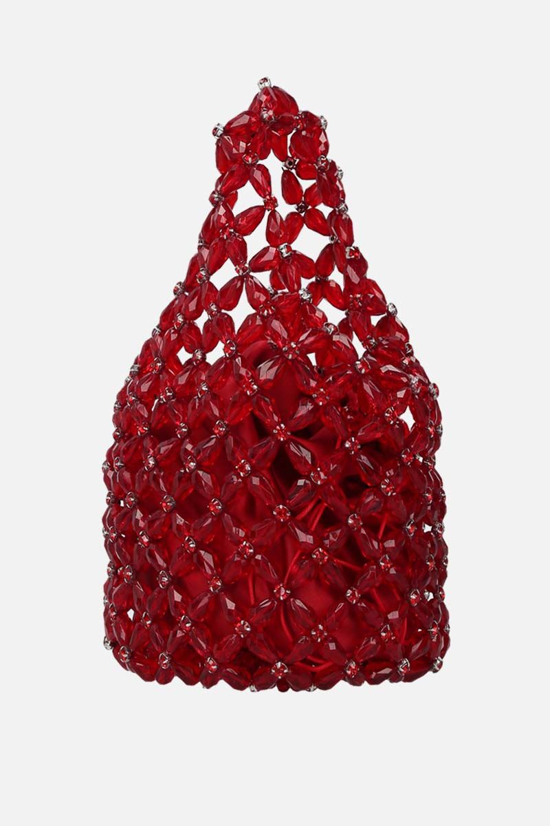 SIMONE ROCHA: crystal-embellished resin small shopping bag Color Red_2