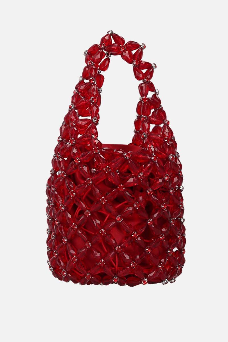 SIMONE ROCHA: crystal-embellished resin small shopping bag Color Red_4