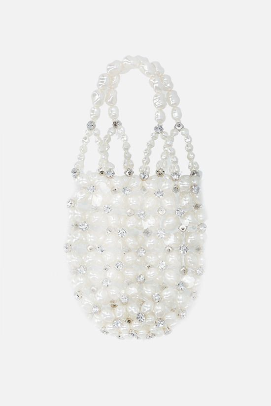 SIMONE ROCHA: crystal-embellished resin handbag Color White_1