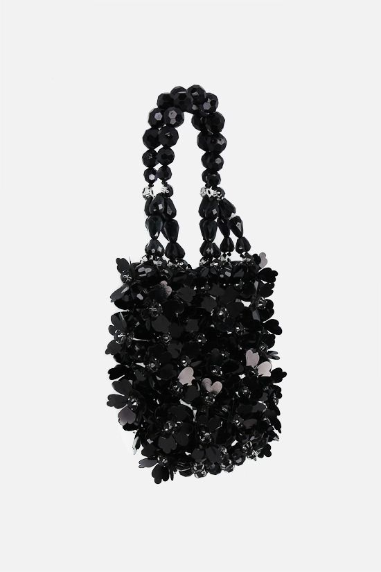 SIMONE ROCHA: crystal-embellished resin handbag Color Black_2