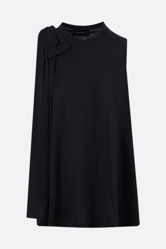 SIMONE ROCHA: bow-detailed cotton sleeveless top Color Black_1