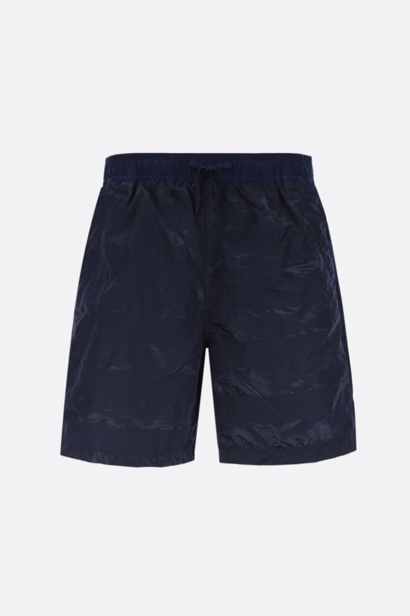 STONE ISLAND SHADOW PROJECT: technical fabric swim shorts Color Blue_1