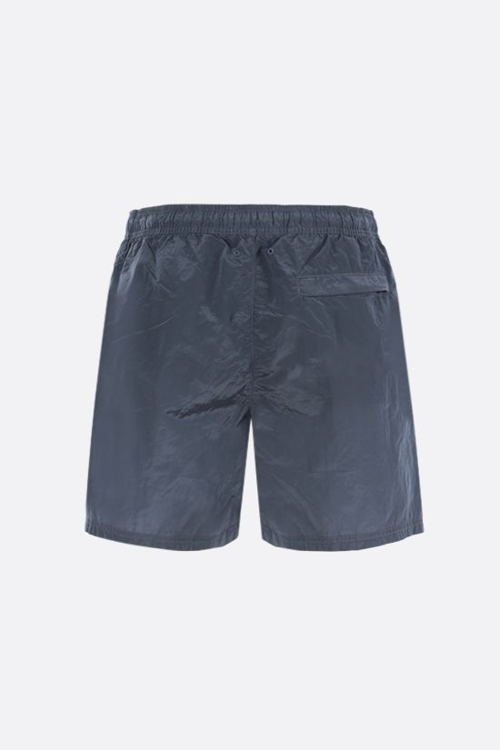 STONE ISLAND: reflective nylon swim shorts Color Silver_2