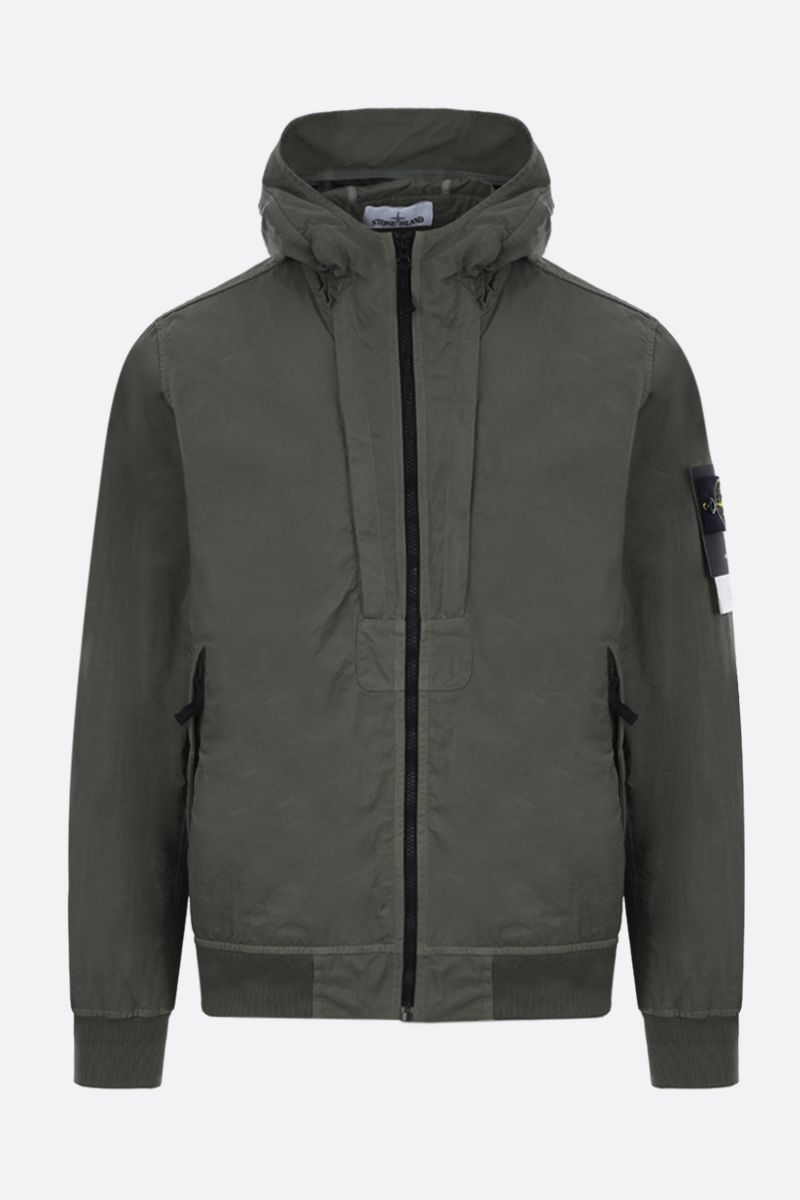 STONE ISLAND: Tightly Woven Nylon Twill-TC jacket Color Green_1