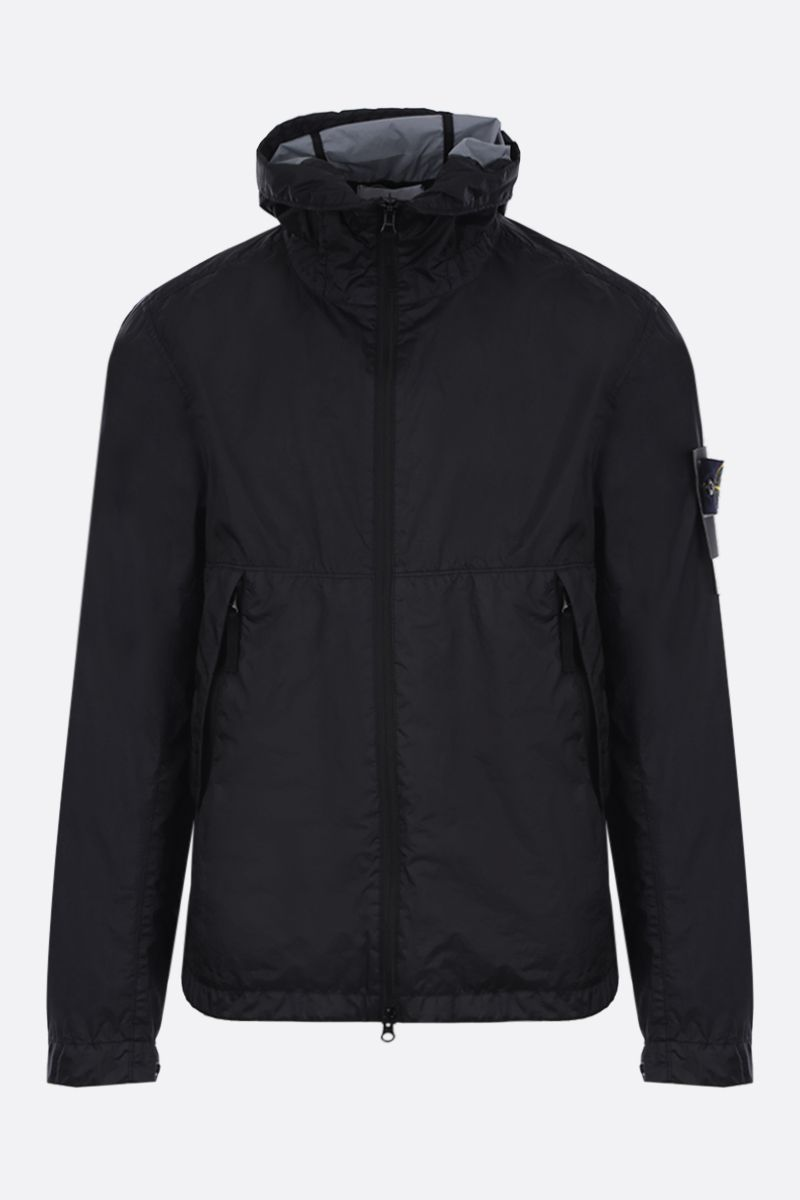 STONE ISLAND: Membrana 3L TC fabric windbreaker Color Black_1