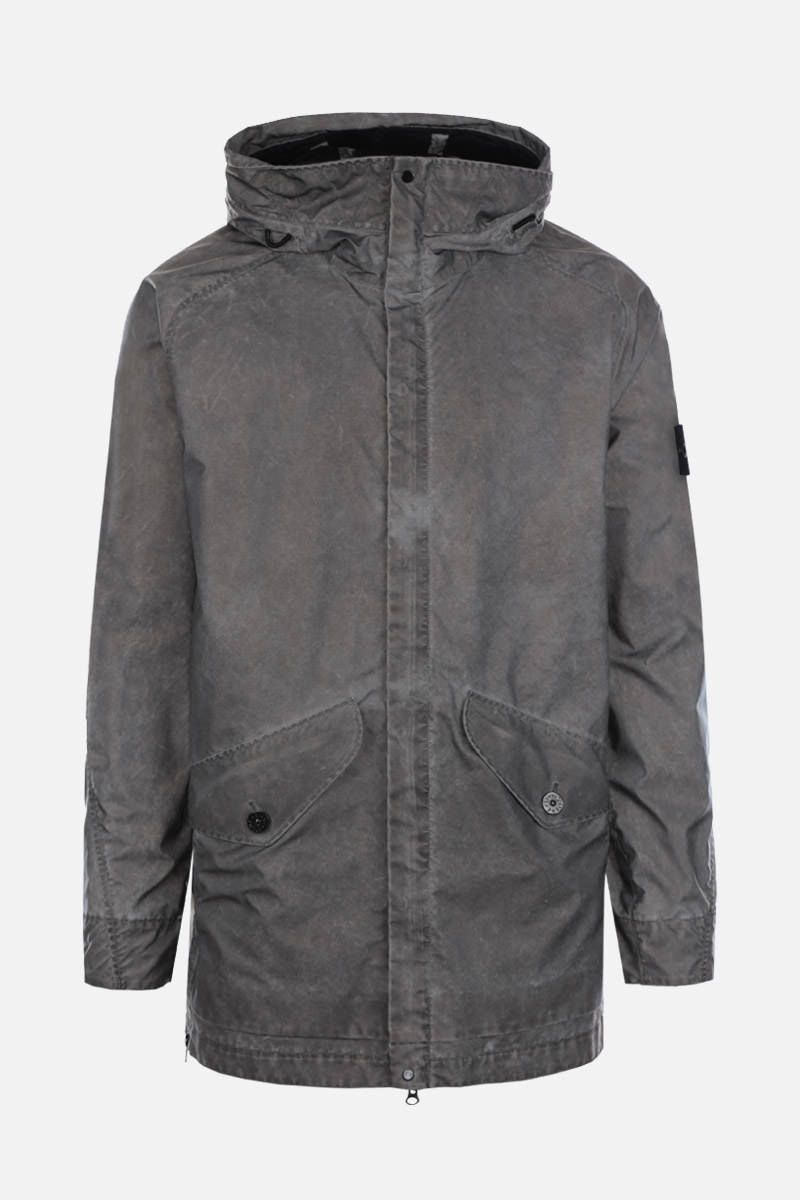 STONE ISLAND: Plated Reflective fabric full-zip jacket Color Grey_1