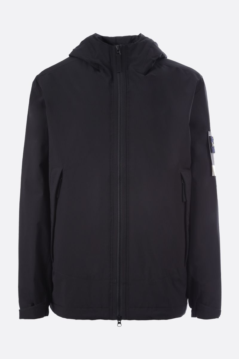 STONE ISLAND: Soft Shell-R fabric padded jacket Color Black_1