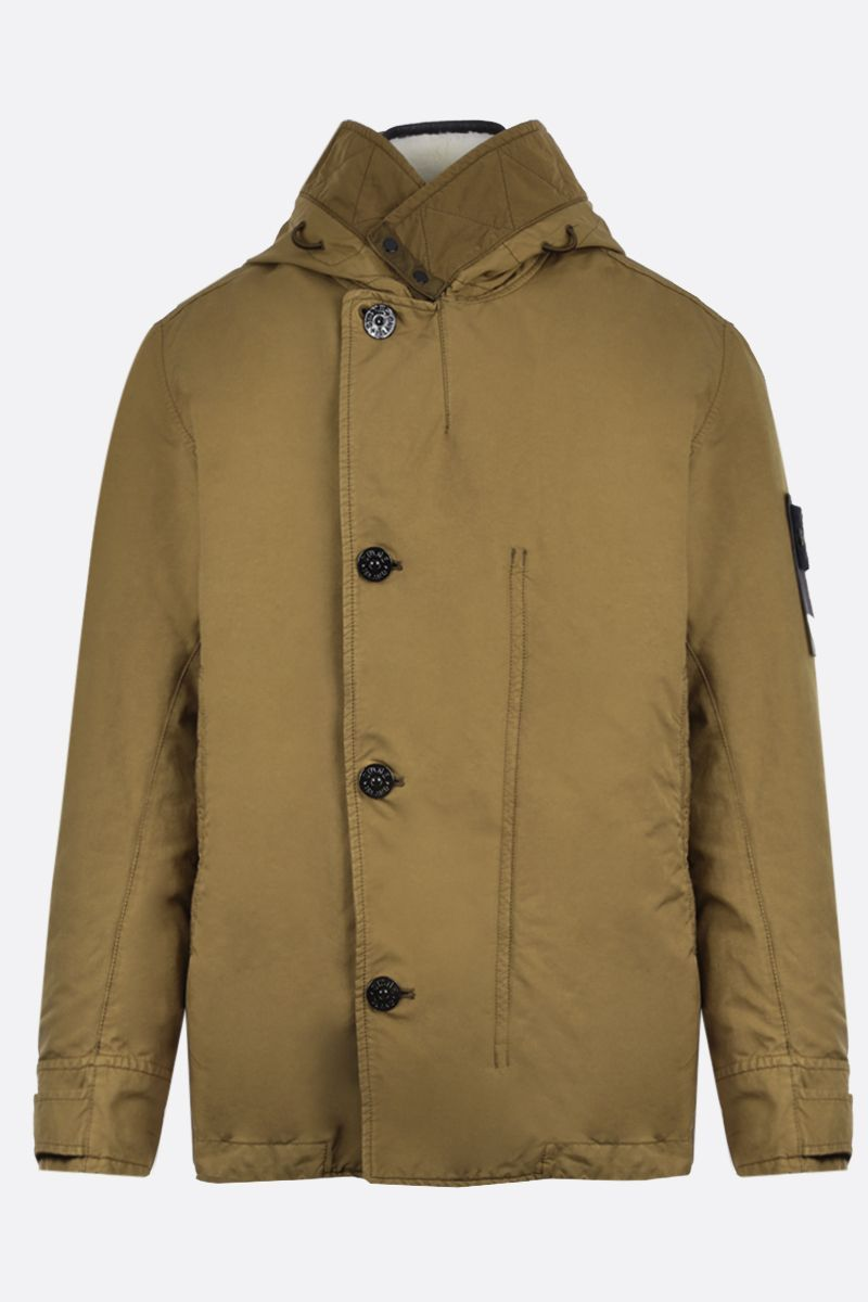STONE ISLAND: David-TC fabric full-zip jacket Color Brown_1