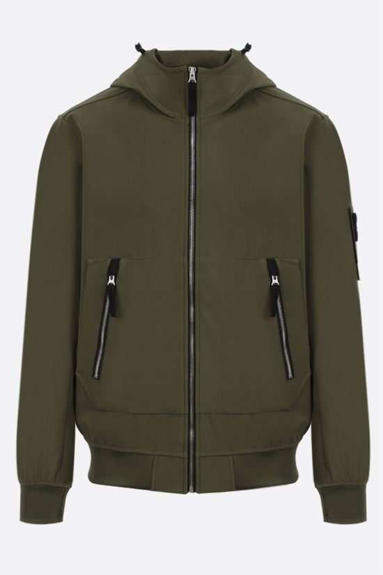 STONE ISLAND: Light Soft Shell-R fabric bomber jacket Color Green_1