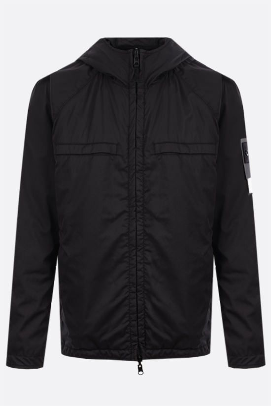 STONE ISLAND: Ghost Piece stretch wool and nylon reversible windbreaker Color Black_1