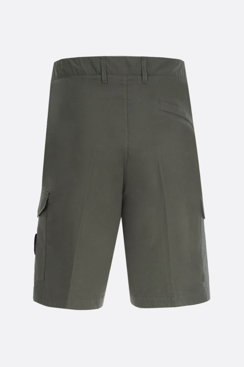 STONE ISLAND: stretch cotton cargo shorts Color Green_2