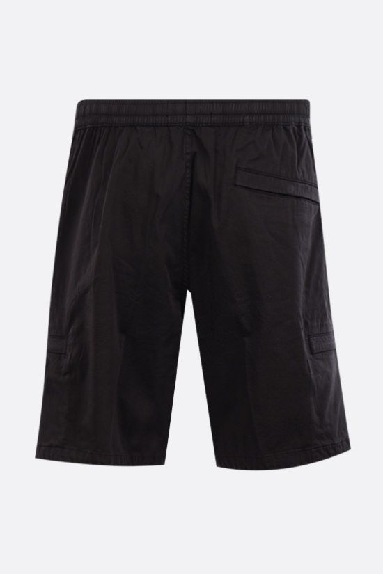 STONE ISLAND: cotton blend shorts Color Black_2