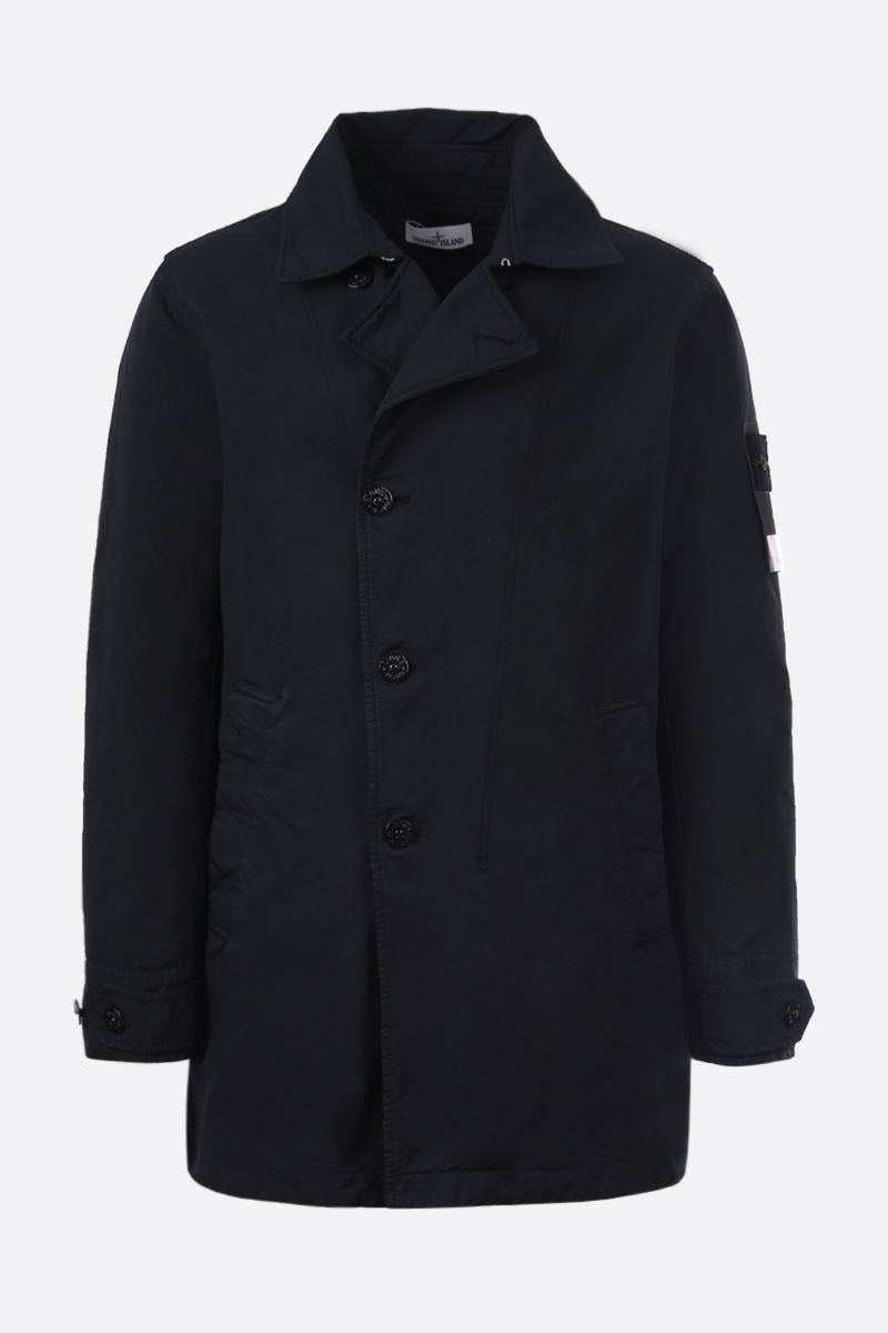STONE ISLAND: DAVID-TC fabric padded single-breated trench coat Color Blue_1