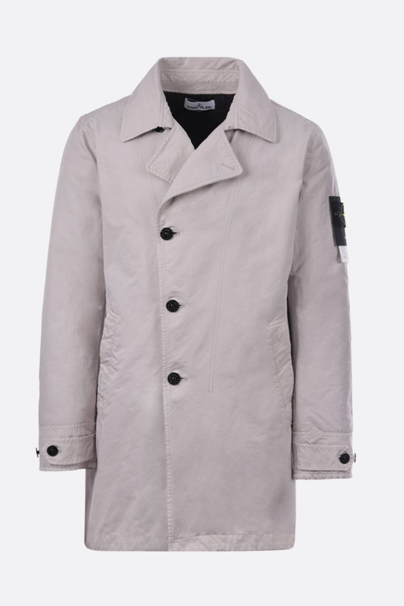 STONE ISLAND: DAVID-TC fabric padded single-breated trench coat Color Grey_1