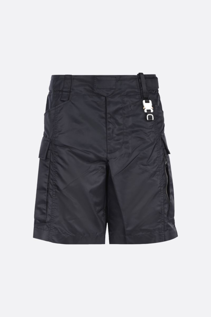1017 ALYX 9SM: Tactical buckle-detailed nylon shorts Color Black_1