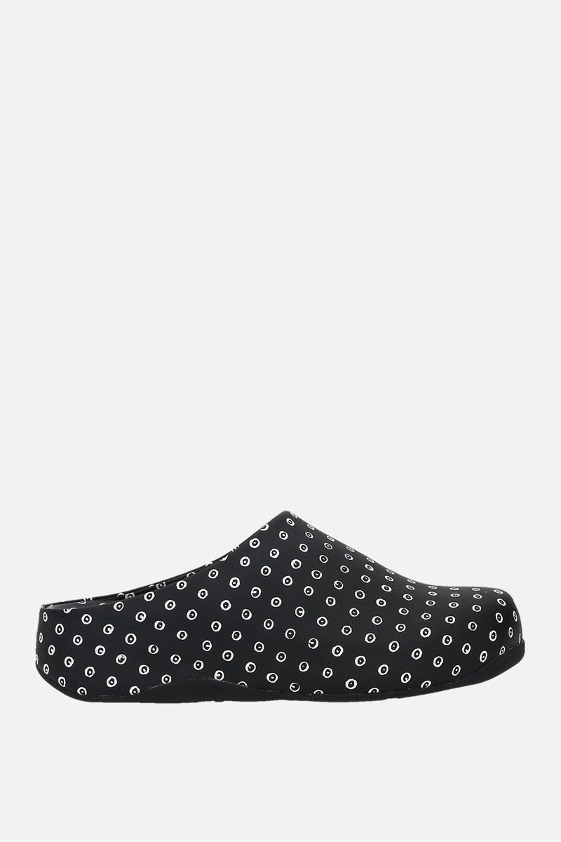 FITFLOP X 10 CORSO COMO: Shuv smooth leather mules Color Black_1