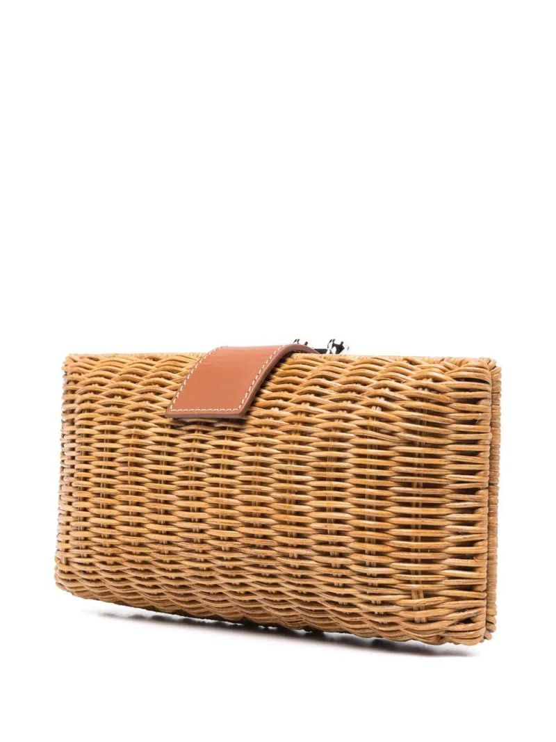 RODO X 10 CORSO COMO: woven straw clutch Color Brown_2