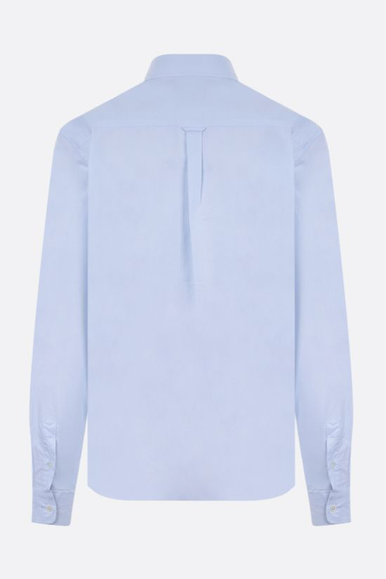 MAISON KITSUNÈ: Tricolor Fox patch cotton shirt Color Blue_2