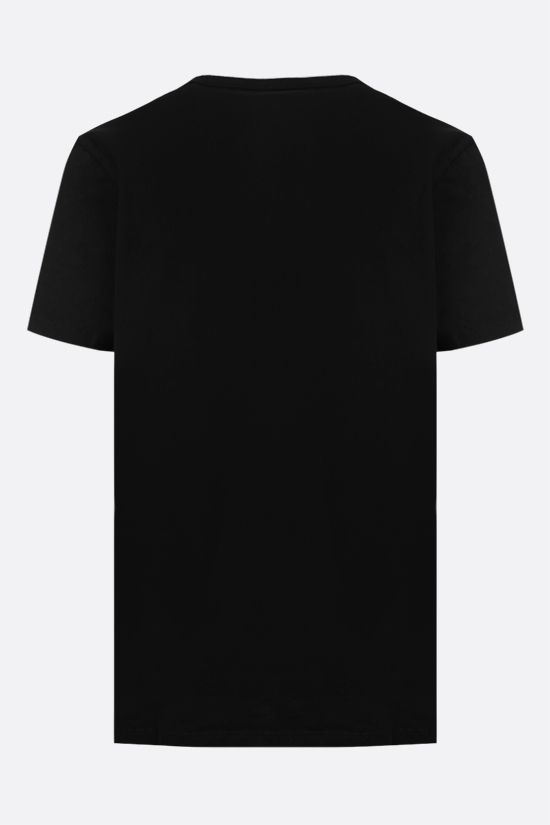 MAISON KITSUNÈ: Palais Royal cotton t-shirt Color Black_2